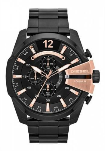 Diesel Watch Chronograph (Diesel Men's Mega Chief Chronograph Stainless Steel Watch - Black)