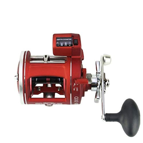Tuscom12BB ACL Round Baitcasting Reel Drum Reel with Counter Fishing Reel Boat Trolling Fishing Reel for Catfish, Salmon, Steelhead, Striper Bass and Inshore Saltwater Fishing (ACL30D Right Hand)