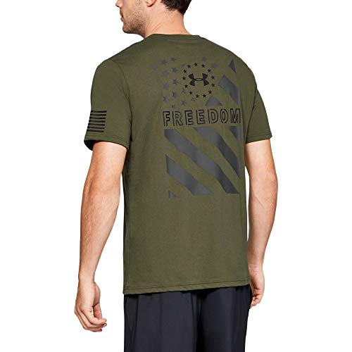 Under Armour Freedom Express T-Shirt, Marine OD Green//Black, Small