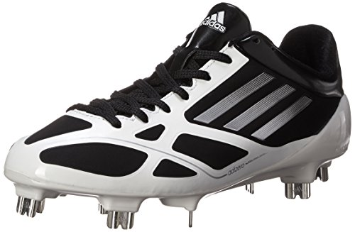 adidas Performance Men's Adizero 5-Tool 2.0 Baseball Cleat, Core Black/Metallic Silver/Running White, 10 M US