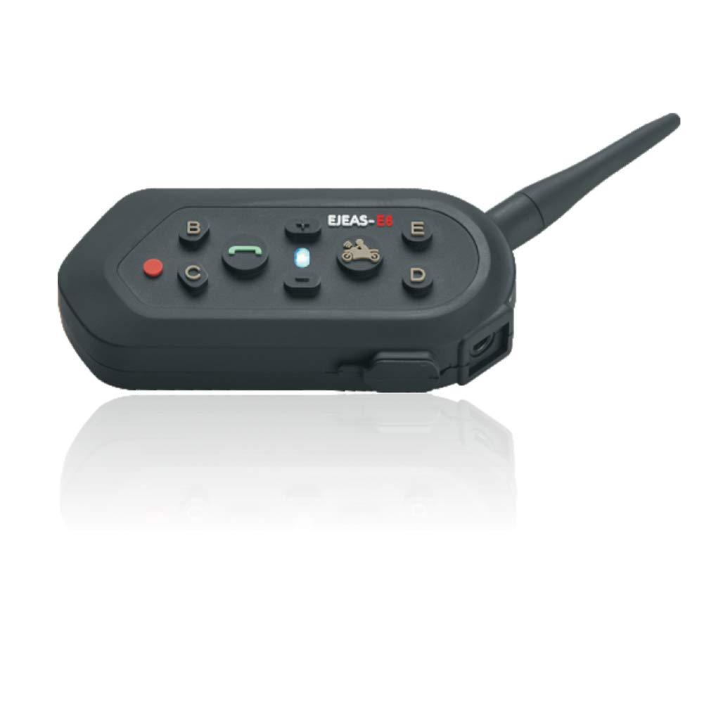 Duplex int/égral Interphone sans Fil pour Motocyclette Connectez jusqu/à 6 Coureurs EJEAS E6 Casque Bluetooth pour Casque de Moto Interphone Interphone avec t/él/écommande Radio FM//GPS //MP4//1200M