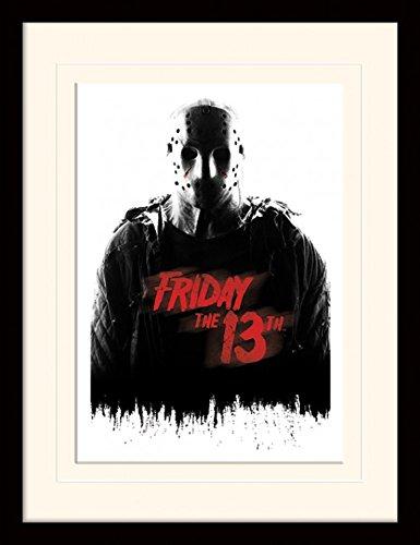 1art1 101891 Freitag der 13. - Jason Voorhees Gerahmtes Poster Für Fans Und Sammler 40 x 30 cm