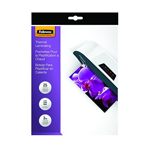 Fellowes Thermal Laminating Pouches, ImageLast, Letter Size, 3 Mil, 25 Pack (5200501) Photo #2