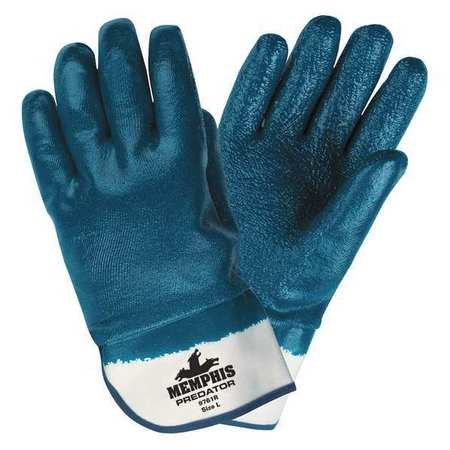 Chemical Resistant Gloves, XL, 11''L, Rough, 12 pk.