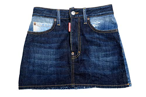DSQUARED2 Women's Blue Denim Mini Skirt US 4 IT 40