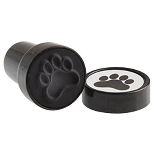 US Toy Black Dog Puppy Paw Print Mini Stampers (Lot of 6) -