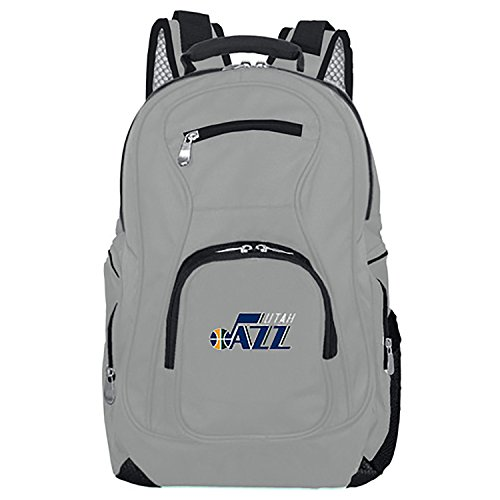 NBA Utah Jazz Voyager Laptop Backpack, 19-inches, Grey (Jazz Utah Bag)
