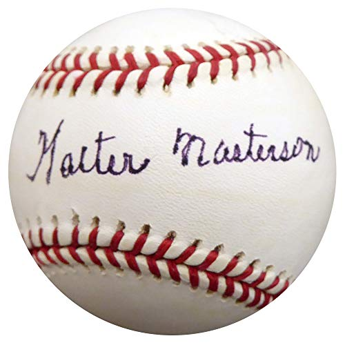 - Walter Masterson Signed Auto League Baseball Boston Red Sox Detroit Tigers - Beckett Authentic