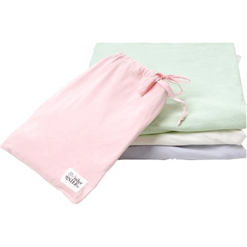 Under the Nile Fitted Crib Sheet With Bag - Ice Blue