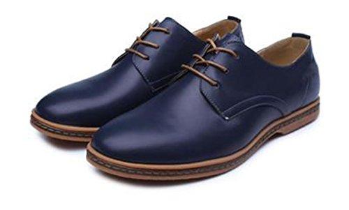 PU Extra Dimensione scarpe 48 scamosciato particolarmente Uomini Uomo Bebete5858 Grande Blu Pelle stile Inghilterra casuale YHwdZfq