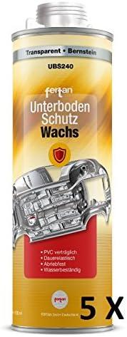 Unbekannt 5 X Fertan 1000 Ml 1l Kartusche Unterbodenschutzwachs Ubs240 Unterboden Wachs Pkw Schutz Restauration Unterbodenschutzwachs Auto