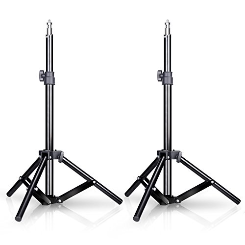Emart Mini Light Stand, 32 inch Photography Back Light Stands for Table Top Photo Video Studio Background (2 Pack) by EMART