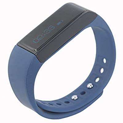 Juboury Fitness Smart Bracelet Bluetooth Phone Mate Smart Wristbands with Anti-lost Passometer Remote Notification for iPhone 4s/5/5s/6 plus Samsung S4/Note 3 HTC Android Phones on Wrist