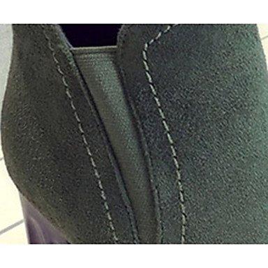 De donna-stivaletti-casual-plateau-quadrato-pu (TPU) -Nero/verde oscuro, negro, us6 / eu36 / uk4 / cn36 negro