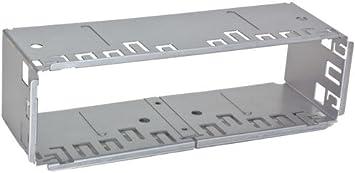 Meins24 30019099 Autoradio 1 Din Einbauschacht Universal Metal Schacht Radio Blende Einbaurahmen