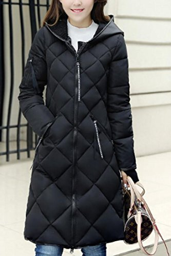 Coats Casual Long Black Overcoat Down Puffer Hoodies Women Gocgt Jacket Down 7RFqSPt