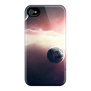 New Space Tpu Skin Case Compatible With Iphone 4/4s