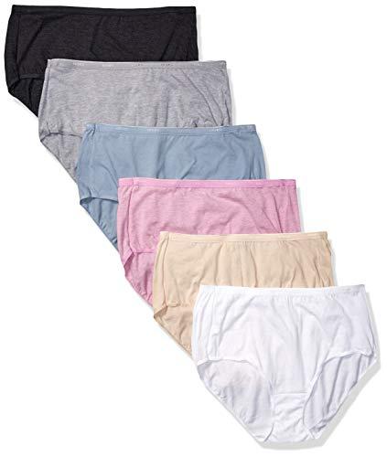 Hanes Women's Signature Breathe Cotton Brief 6-Pack, Assorted Colors, 3X Large (10)