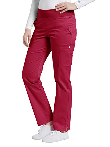 Oasis Allure By White Cross Women's Yoga Elastic Waistband Scrub Pant Small Heritage (Heritage Flap)