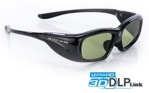 "[Hi-SHOCK DLP Pro ""Black Space""   DLP-Link 3D Glasses for Acer, BenQ, Optoma, Viewsonic, Screeneo, Infocus, NEC, Jmgo, Vivitek   E4W / D5 / ZD301 / PGD-350 / PPA5610 / X103 / NP02GL / HGL1] (Nec La Vie Light)"