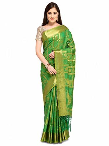 Cotton Green Silk Woven Design Colors Saree wfq8PwU