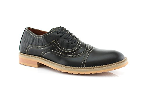 Ferro Aldo Xavier MFA19382LE Oxford Perforated Dress Shoes (10.5, Black)