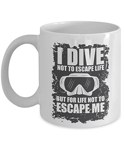 Vintage I Dive Not To Escape Life Diving Goggles Coffee & Te