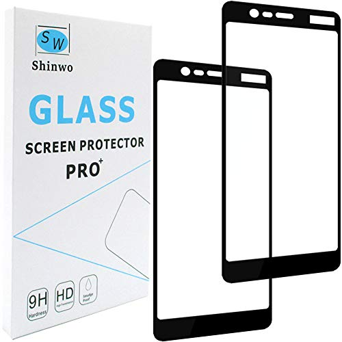 Nokia 5.1 (2018) / Nokia 5 (2018) Screen Protector,Shinwo for Nokia 5.1 (2018) / Nokia 5 (2018) [Full Cover] [9H Hardness Anti-Scratch] Tempered Glass Screen Protector - [2-Pack]