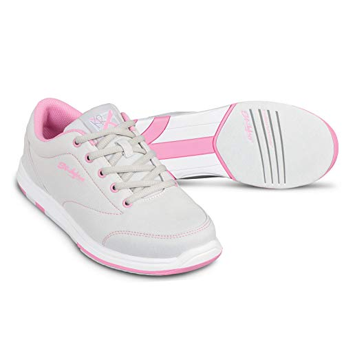 KR Strikeforce Women's Chill Bowling Shoes, Gray/Pink, Size 7