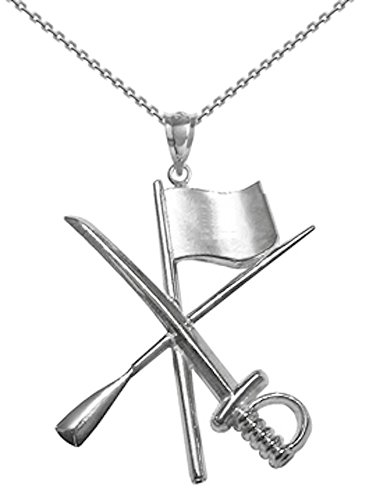 Color Guard Flag Rifle Saber Necklace in Silver for Color Guard-18