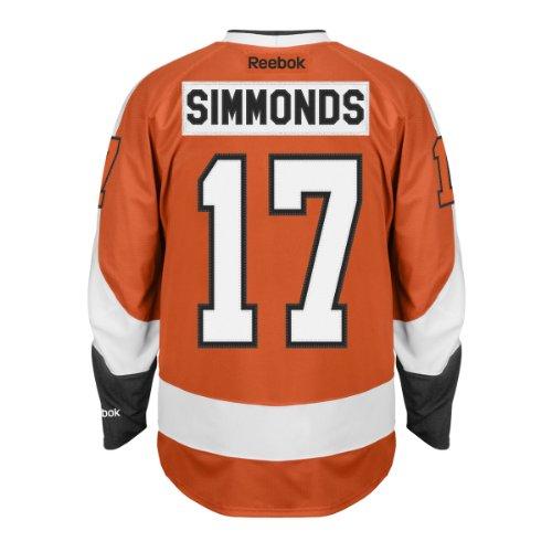 Wayne Simmonds Philadelphia Flyers Reebok Premier Replica Home NHL Hockey Jersey - Size Small