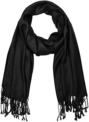 Solid BLACK fancy viscose shawls scarves for summer and winter viscose twill