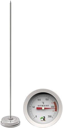 POPETPOP - Medidor de Temperatura de Aceite de Acero Inoxidable, Temperatura del azúcar, Herramienta para Detector de Temperatura, Jarabe de Caramelo para Cocina o casa: Amazon.es: Hogar