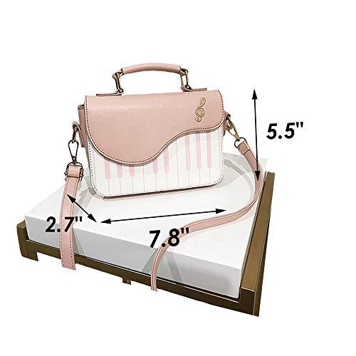Bag Piano Women Pink Girls Strap Leather Pu Magibag Shoulder Crossbody With Handbag Adjustable Purse fYwdqOt