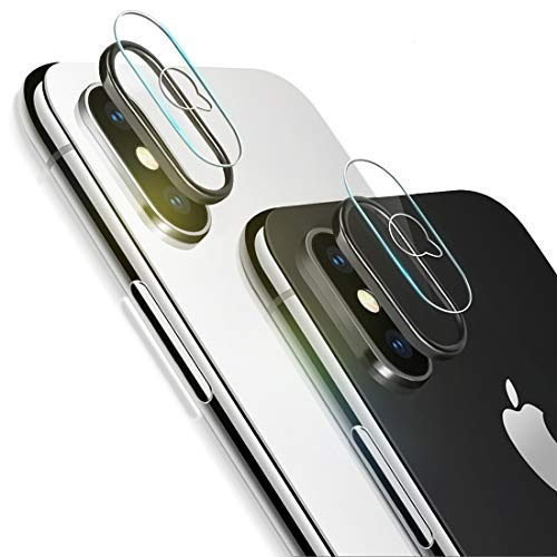 iPhone Xs Max Camera Lens Protector, [2 Pack] Ultra-Thin Anti-Scratch Camera Tempered Glass Screen Protector Film and 2pcs Camera Lens Rings Compatible iPhone Xs Max/XS from Sameriver