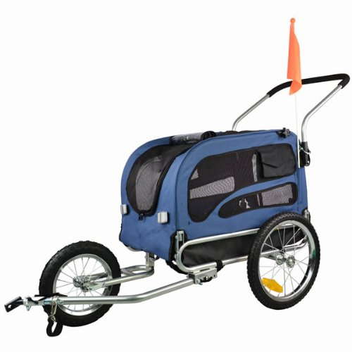 doggyhut medium 2 in 1 pet stroller jogger bicycle trailer. Black Bedroom Furniture Sets. Home Design Ideas