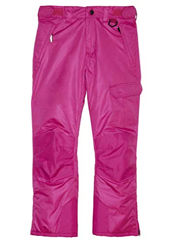 Arctic Quest Boys & Girls Water Resistant Insulated Ski Snow Pants, Pink, - 18 Pants Womens Size Ski