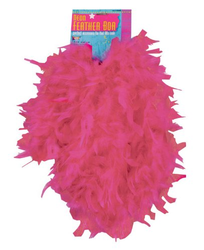 Pink Flapper Boa (Neon Pink 55-Gram Feather Boa)