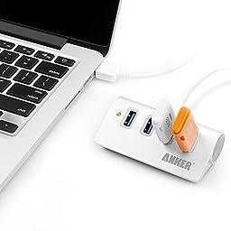 USB Hub, Anker 4-Port USB 3.0 Portable Aluminum Hub with 2-Foot USB 3.0 Cable, for iMac, MacBook, MacBook Pro, MacBook Air, Mac Mini, or any PC (Silver)