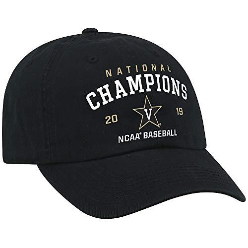 Elite Fan Shop Vanderbilt Commodores Baseball College World Series Champs Hat CWS 2019 Classic - Adjustable - Black