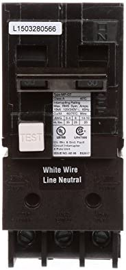 Murray MP260GFA 60 Amp 2-Pole GFCI Circuit Breaker with Self Test /& Lockout Feature