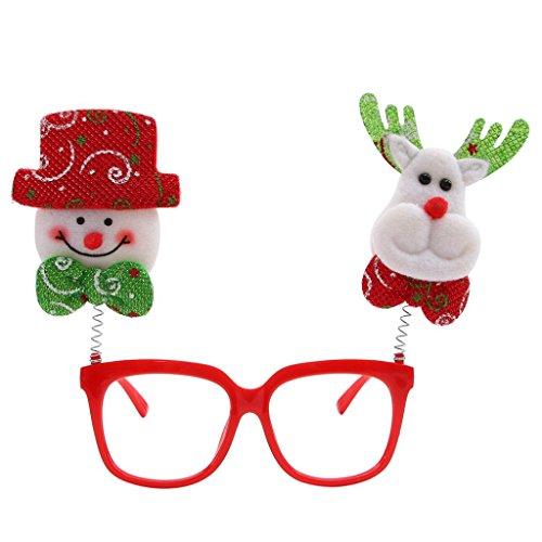 Christmas Decor Glasses,Nesee Christmas Glasses Frame Xmas Decoration Novelty Fancy Dress Santa Snowman Xmas (Christmas Fancy Dress For Dogs)