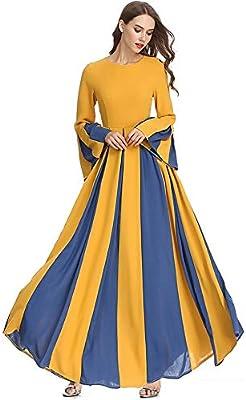 TnSok - Vestido para Mujer, Estilo Casual, musulmán, Falda Larga ...