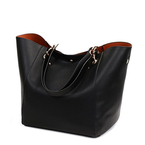 Black Bag Handbag Mother Pu Bag 1 Cube Leather 5 To Pu Bag Leather color Women qaarw5t