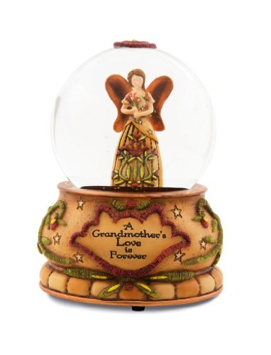 Pavilion Gift Company Country Soul 29039 100mm Musical Water Globe, Grandmother, 6-Inch (Angel Musical Snowglobe)