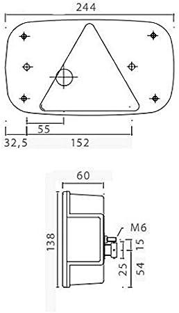 Aspöck Multipoint 3 Links Mit NebelschluàŸleuchte U Kennzeichenleuchte Auto
