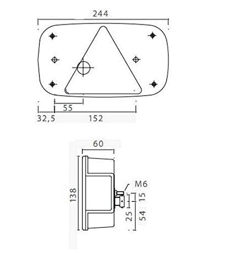 Asp/öck Multipoint 3 RECHTS mit Kennzeichenleuchte inkl Leuchtmittel