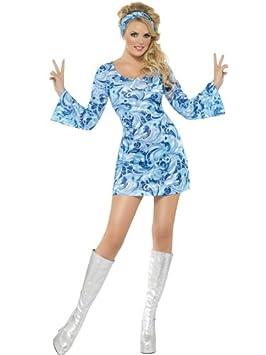 FEVER - Disfraz de hippie para mujer, talla UK 14-16: Amazon.es ...