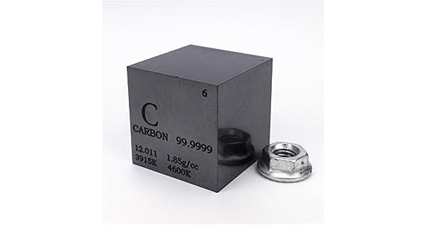 1 (25,4 mm Alta Pureza carbono cubo 30 gramos 99,9999% grabado tabla periódica: Amazon.es: Industria, empresas y ciencia