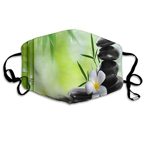 Face Mask Bamboo Zen Stone Lotus Flower Special Cycling Half Face Earloop Mouth Mask for Men]()